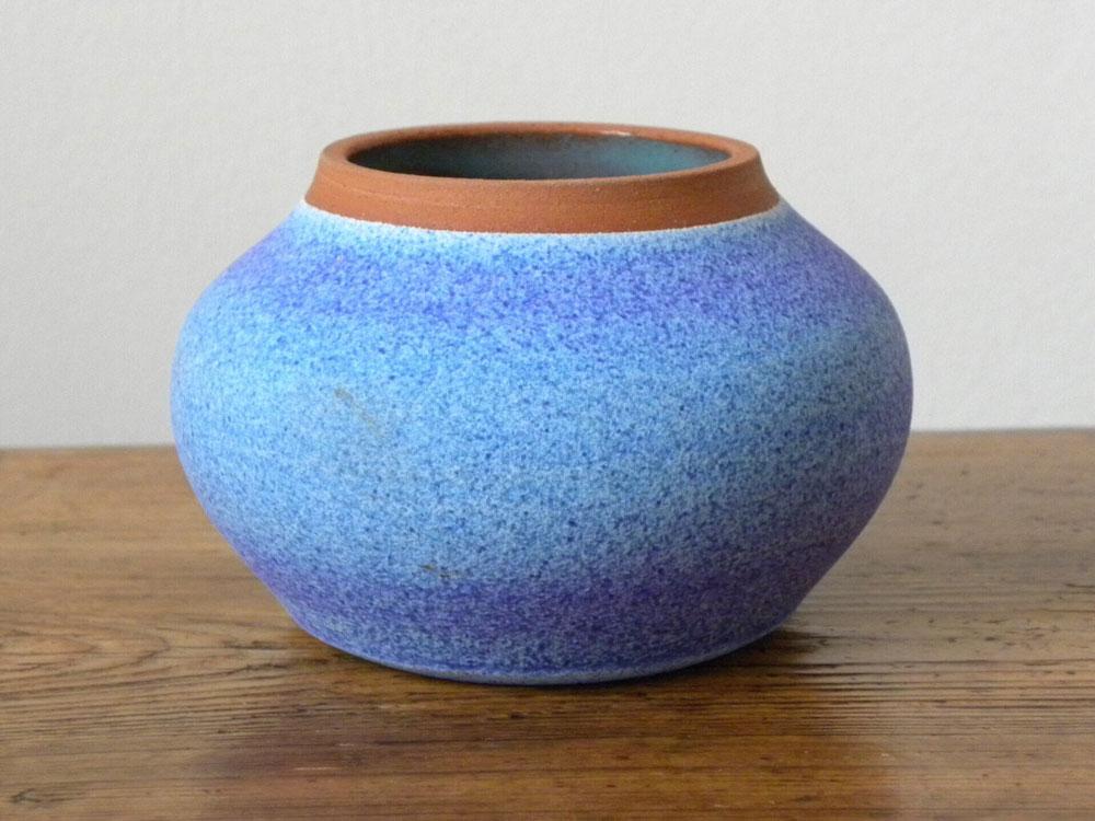 Geraldine Clark - small thrown pot with unique glaze