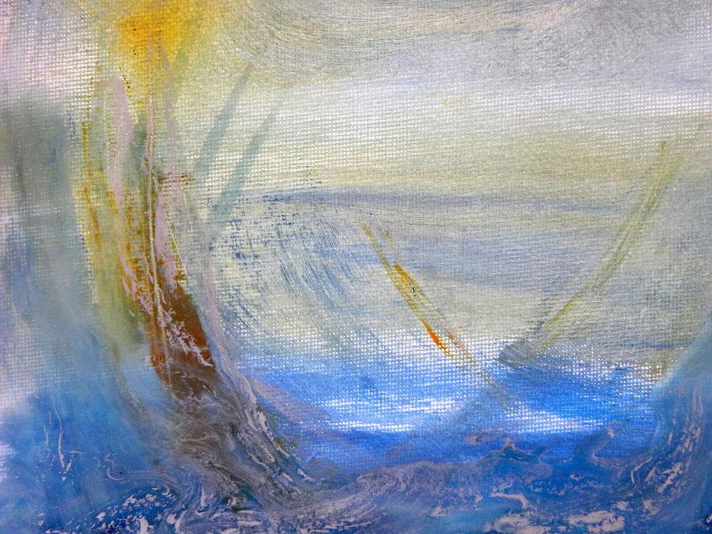 Julie Clark - Amber Breeze - mixed media on canvas