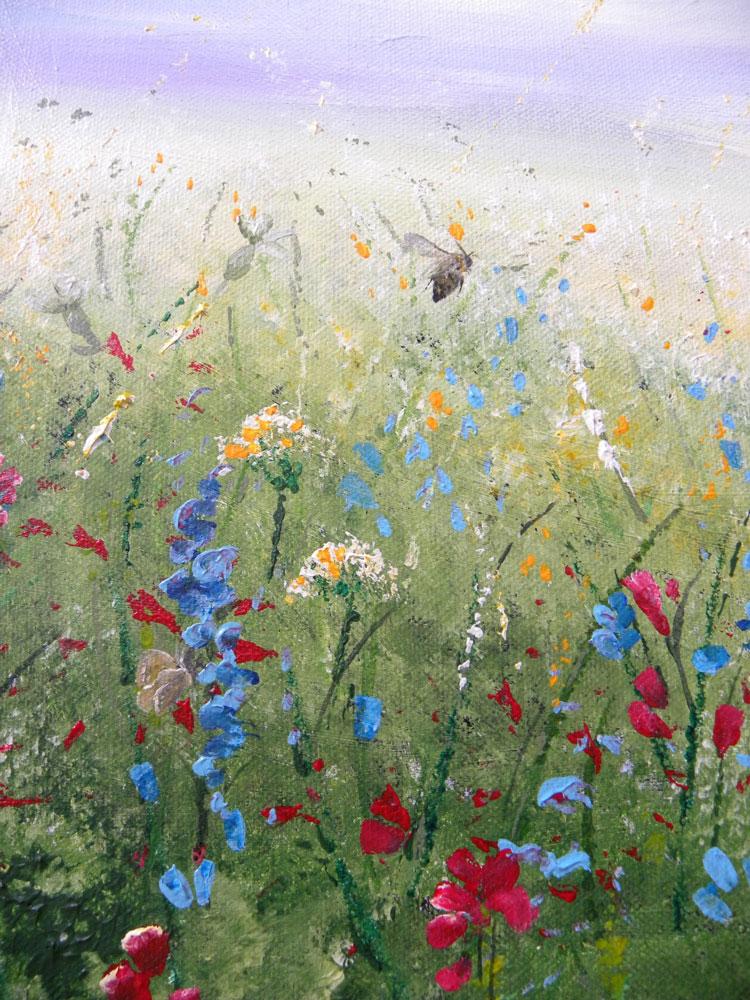 Kerry Farr - Summer Meadow - acrylic on canvas