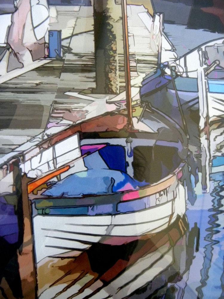 Alan Witley - Reflections, Wells Next the Sea - digital print