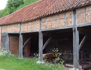 Elizabethan barn Ringstead downs